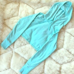 *RARE* Gymshark Cropped Hoodie | Pale Turquoise